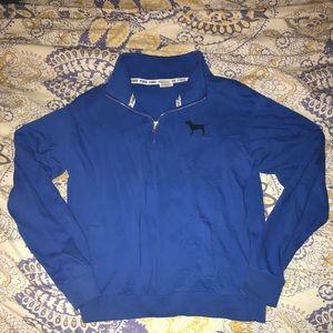 VS PINK- Quarter Zip Sweatshirt